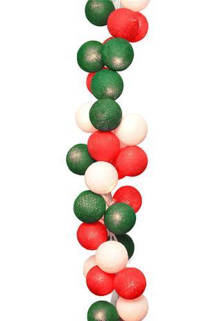 Menor preço em Fio de Luz LED CORMILU Natal, Branco, Vermelho, Verde Natalino 20 bolas À Pilha