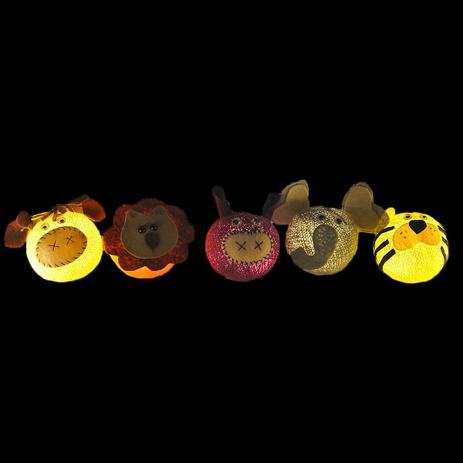 c33216025 Fio de Luz LED CORMILU temático Safari 20 À Pilha - Decoração ...