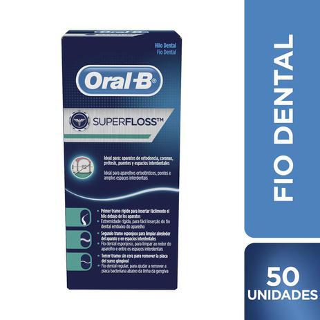 c48d0ac7a Fio Dental Oral-B Super Floss 50 Unidades - Fio Dental - Magazine Luiza