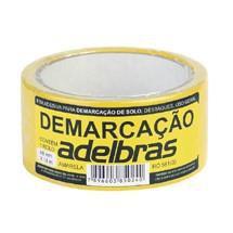 Imagem de Fita Adesiva Demarcação de Solo Amarelo 48x14 Metros Adelbras