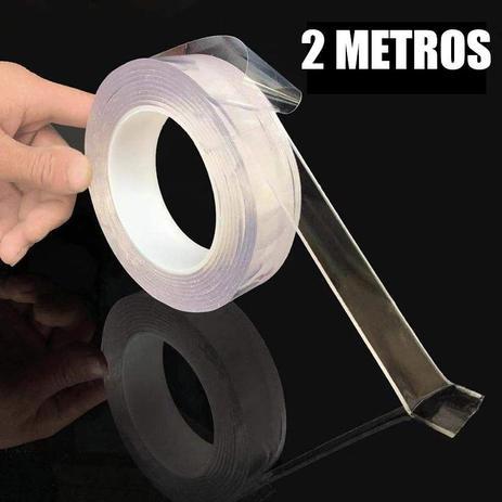 Imagem de Fita Adesiva Dupla Face Transparente Nano PU Gel 2 metros Casa