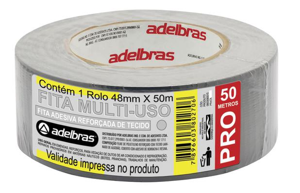 Imagem de Fita Adesiva Reforçada Silver Tape Prata 48mm x 50m