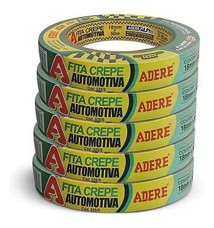 Imagem de Fita Crepe Automotiva Alta Resistencia Verde 18mmx50m Adere