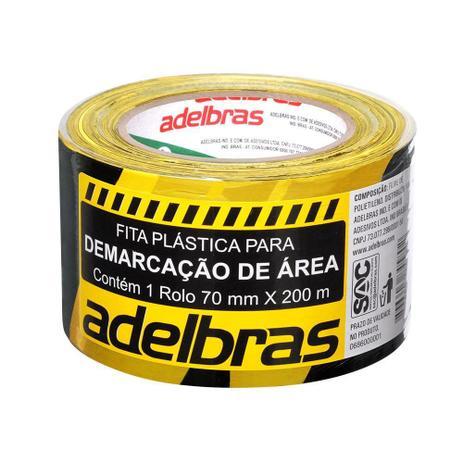Imagem de Fita Demarcacao Area 70mmx200m Preto Amarelo Adelbras
