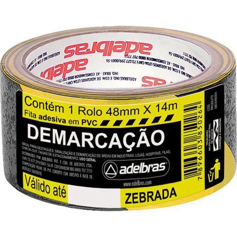 Imagem de Fita Demarcacao Solo Adelbras 48x14m Zebrada  803050003