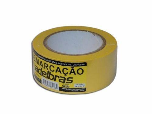 Imagem de Fita Demarcação Solo Adelbras 48X30 Amarela