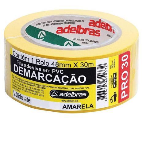 Imagem de Fita Demarcação Solo Amarelo - Adelbras