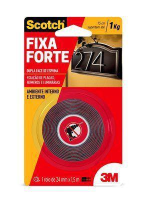 Imagem de Fita Dupla Face 24mm x 1.5m Fixa Forte 3M  HB004419907