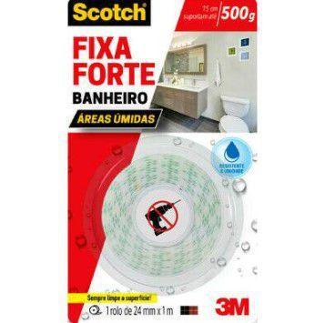 Imagem de Fita Dupla Face 3M Scotch Fixa Forte Banheiro 24 mm x 1 m HB004622690