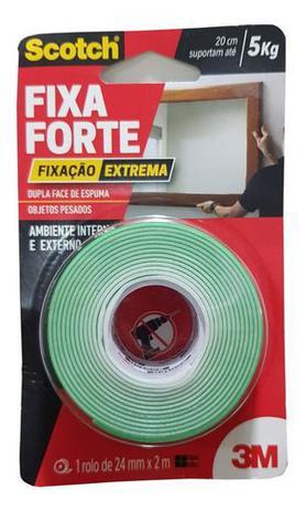 Imagem de Fita Dupla Face Espuma Fixa Forte Scotch 3m 24mm X 2m - 5kg