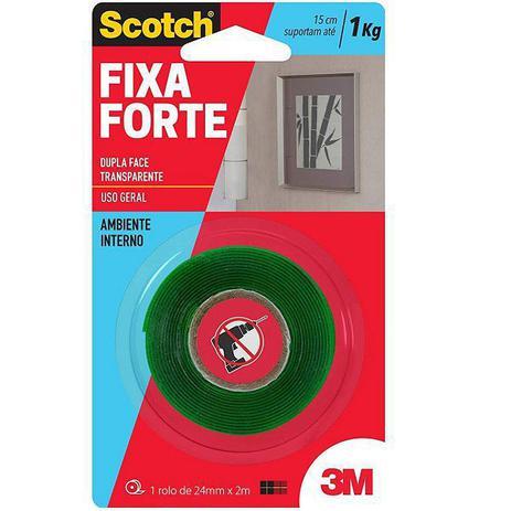 Imagem de Fita Dupla Face Fixa Forte 3M 24MM X 2M SCOTCH