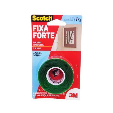Imagem de Fita Dupla Face Incolor Fixa Forte 24mm x 2m 3M