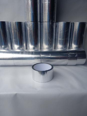 Imagem de Fita Laminada Cromada Isolamento Térmico Caixa Isopor 50 m