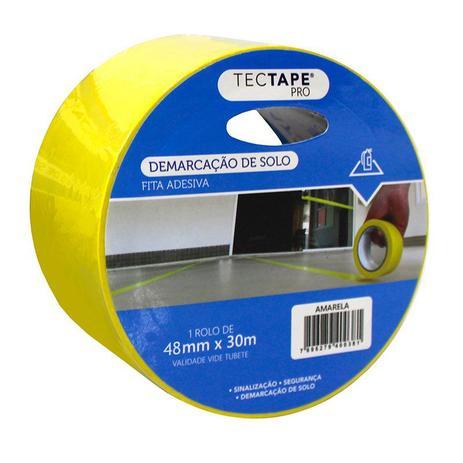 Imagem de Fita para demarcação de solo 48x30 - amarelo - Tectape