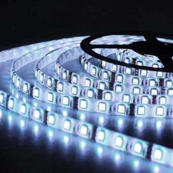 Imagem de Fita Super LED 5050 Rolo 5 Metros C/ Silicone e Fita Dupla Face + Fonte (Cor : Branco Frio)