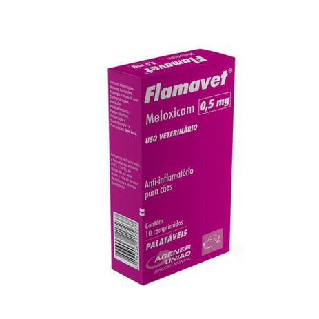 Imagem de Flamavet 0,5 mg Anti-inflamatório para cães Agener 10 comprimidos
