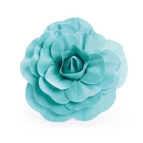 Imagem de Flor Decorativa P/Painel Azul Turquesa 30Cm Dec. Festas