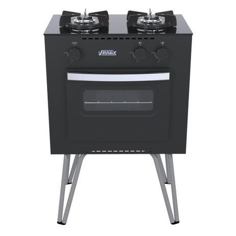 Imagem de Fogao a Gas Mini Cook 2 Q Preto Fosco Gás Glp