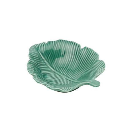 Imagem de Folha decorativa 14,5 x 12 cm de porcelana verde Pachira Prestige - 26874
