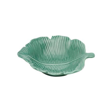 Imagem de Folha decorativa em porcelana Prestige Pachira 14,5cm verde