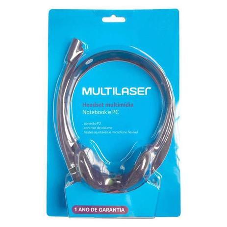 Imagem de Fone Com Microfone P2 Multilaser Basico Preto Ph002