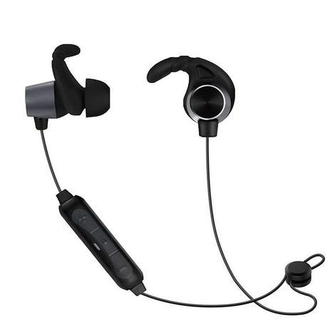 Imagem de Fone De Ouvido Bluetooth Esportivo Sem Fio Intra-auricular Sumexr Preto