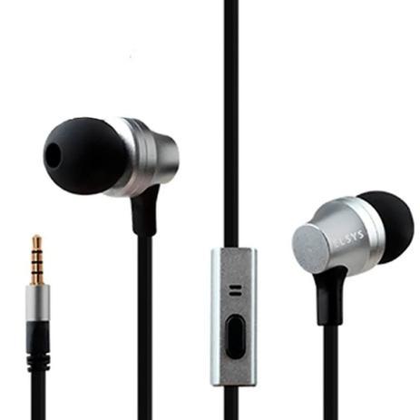 Imagem de Fone de Ouvido com Fio Intra-Auricular com Controle EAF1111-2 Prata - Elsys