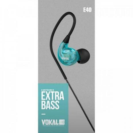 Imagem de Fone de Ouvido E40 In Ear Azul VOKAL