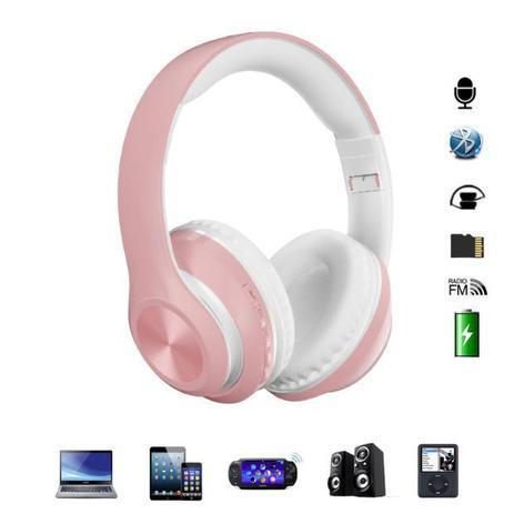 Imagem de Fone de Ouvido Headset Dobravel Bluetooth 5.0 P68 Rosa