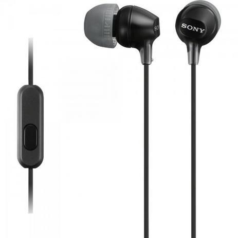 Imagem de Fone de Ouvido Intra-Auricular com Microfone MDR-EX15AP Preto SONY