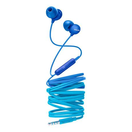 Imagem de Fone de ouvido intra auricular com microfone she2405bl azul