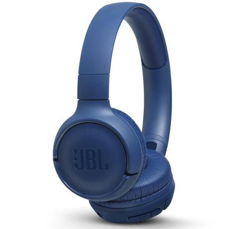 Imagem de Fone de Ouvido JBL Tune 500 Bluetooth Azul Pure Bass Sem fio Com Microfone e Controle T500BT