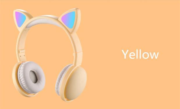 Imagem de Fone De Ouvido Light Headphone Orelha Gato Bluetooth Bh-s523