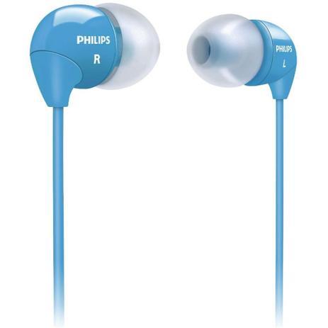 Imagem de Fone de Ouvido Philips SHE3590 Azul Intra Auricular Universal Plugue P2 3,5mm