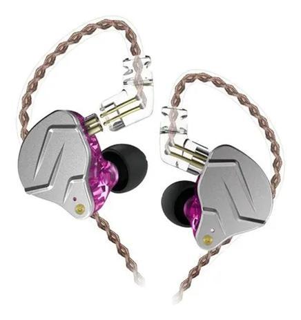 Imagem de Fone De Ouvido Profissional In Ear Dual Driver KZ ZNS Rosa