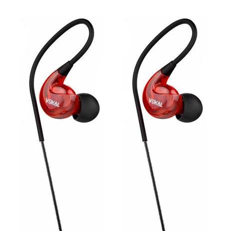 Imagem de Fone de Ouvido Retorno Vokal E40 Vermelho Monitor In Ear