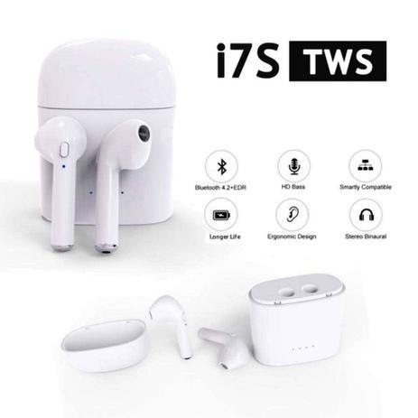 b66afe97cf8 Fone de Ouvido Sem Fio Bluetooth I7S TWS 4.2 iOS e Android - Fone de ...