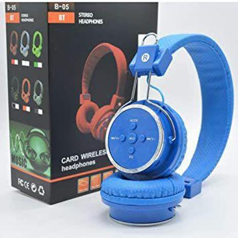 Imagem de Fone De Ouvido Sem Fio Bluetooth Micro SD FM B05 Headfone - Lehmox