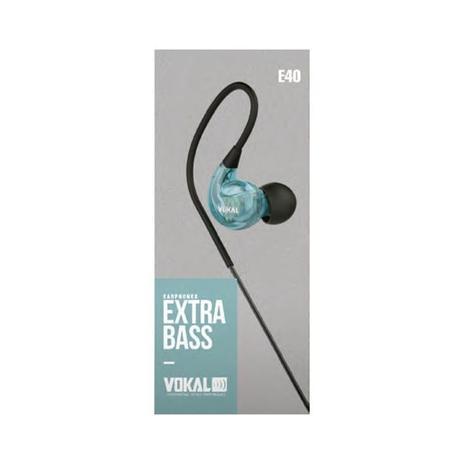 Imagem de Fone De Ouvido Vokal E40 In Ear Azul