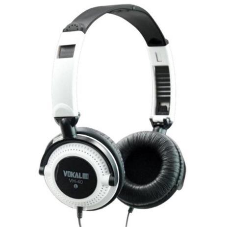 Imagem de Fone de Ouvido Vokal VH40 White com Alto-falante de 40mm e Plug P10 Incluso