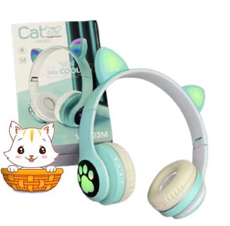 Imagem de Fone Orelha De Gato Headphone Gatinho Com Led Fone Bluetooth Dobrável