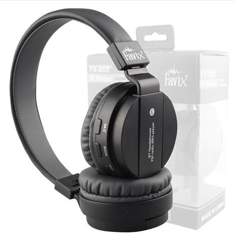 6e0cefdb7d2 Fone Ouvido Favix B08 Sem Fio Bluetooth Headset Fm Radio SD P  Celular  Stereo