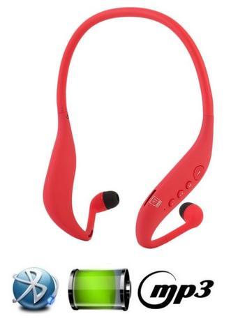 Imagem de Fone Ouvido Sem Fio Sport Bluetooth Mp3 Fm Novo Design Lc702 Vermelho