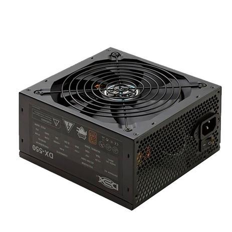 Imagem de Fonte atx 500watts real dx-550 80 plus bronze pfc-a dex