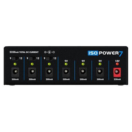 Imagem de Fonte Automática Landscape Iso Power 7 de 9,12 e 18V DC 2350mA 6 Plugs Preta