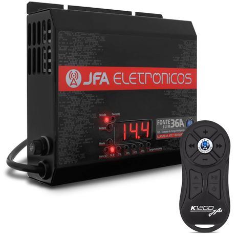 Imagem de Fonte Automotiva JFA 36A Amperes 1800W RMS Slim Bivolt Voltímetro + Controle Longa Distância K1200