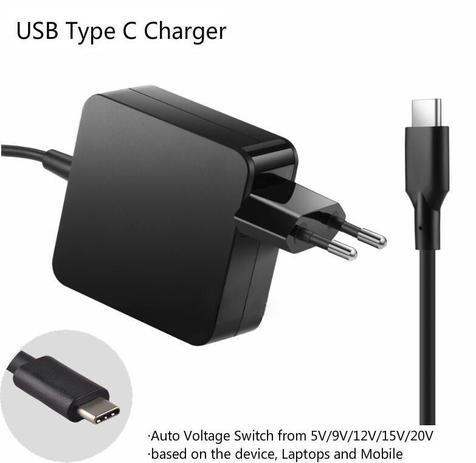 Imagem de Fonte Universal Usb C Laptop Ac Power Adapter Para Dell Xps12 9250