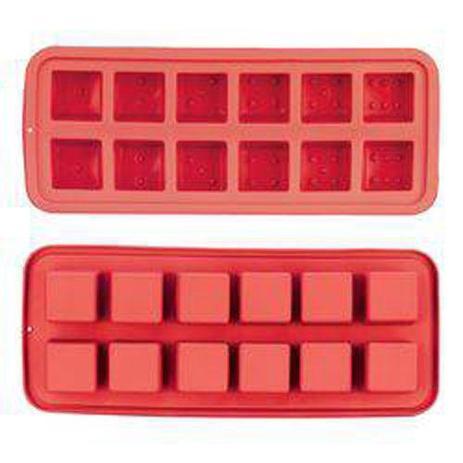 Imagem de Forma de Silicone para 12 Pedras de Gelo Vermelho