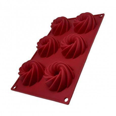 Imagem de Forma Espiral Mini Bolo Pudim Cupcake Torta 7x3,5cm 6 cavidades Dolce Home - D025