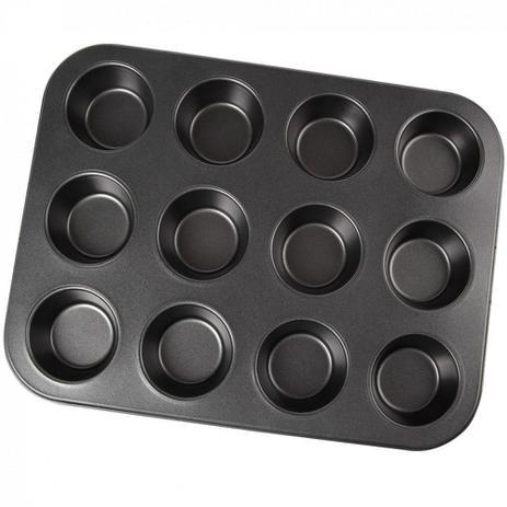 Imagem de Forma para Cupackes Pao de Queijo Ou Empada com 12 Cavidades  Fratelli Inox